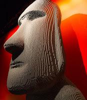 Testa Moai alla Lego