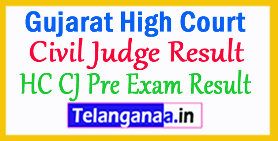 Gujarat High Court Civil Judge Pre Exam Result 2018 Cut off Marks