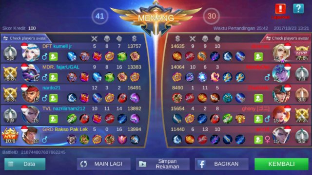 Menang Terus Mobile Legends