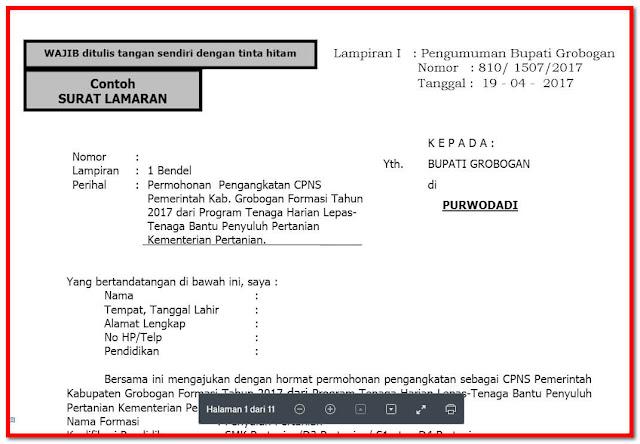 Persyaratan Pendaftaran Calon Pegawai Negeri Sipil (CPNS)