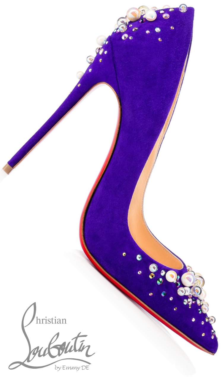 Brilliant Luxury ♦ Christian Louboutin Candidate Veau Velours Pumps