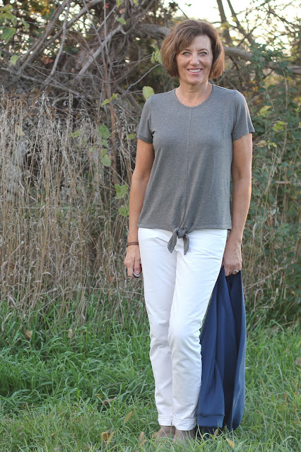 Indiesew Key Largo top in Heather Gray Rayon