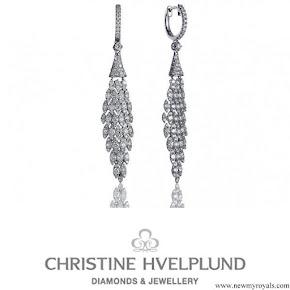 Princess Marie wearing Christine Hvelplund Diamond Earrings