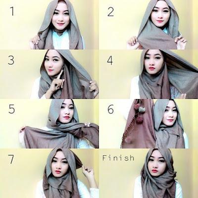 Tutorial Style Hijab Pashmina Loose Cantik