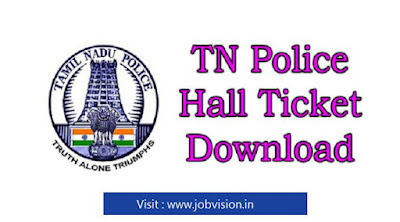 Tamilnadu Police Constable Admit Card 2018