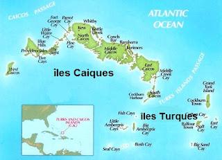 Carte iles Turques et caiques