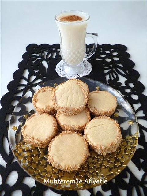 susamlı tahinli kurabiye tarifi