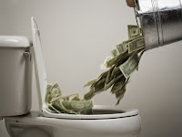 botar dinero