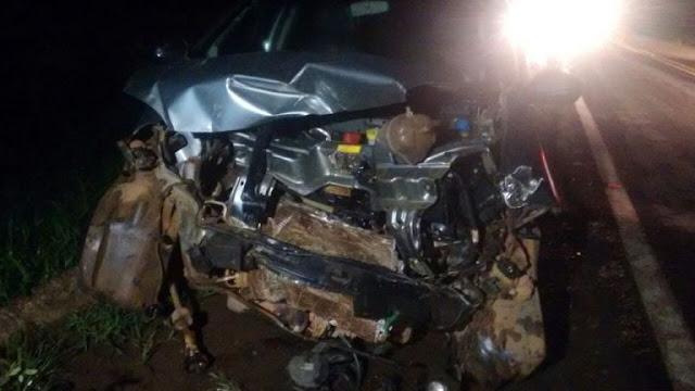 Acidente em Jaru na BR 364 deixa quatro pessoas gravemente feridas