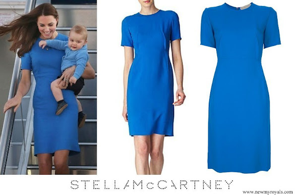 Kate Middleton wore Stella McCartney blue crepe tunic dress