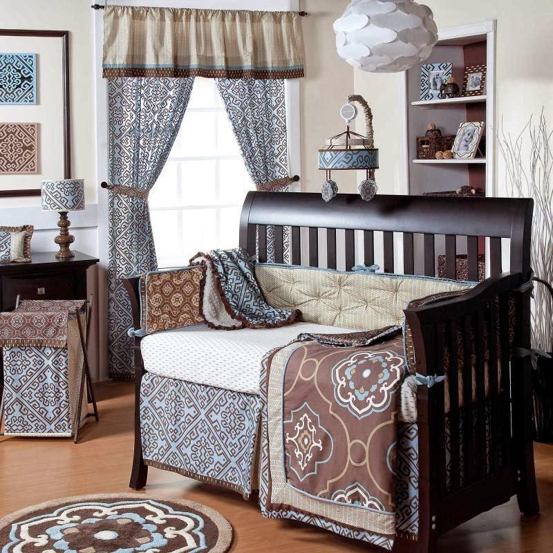 8 Pc Cocalo Corlu Boy Modern Designer Nursery Crib Bedding