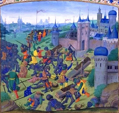 The defeat of the anti-Ottoman coalition in the battle of Nicopolis in 1396 was the akibat blow leading to the fall of the Bulgarian Empire.