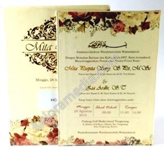 Harga Undangan Pernikahan single softcover