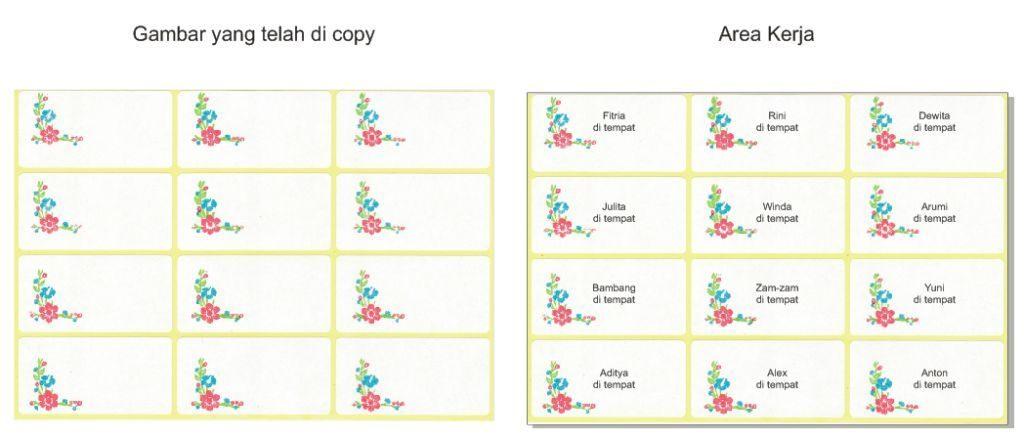 Cara Mencetak atau Print Label Nama Undangan Biar Pas Step - 6