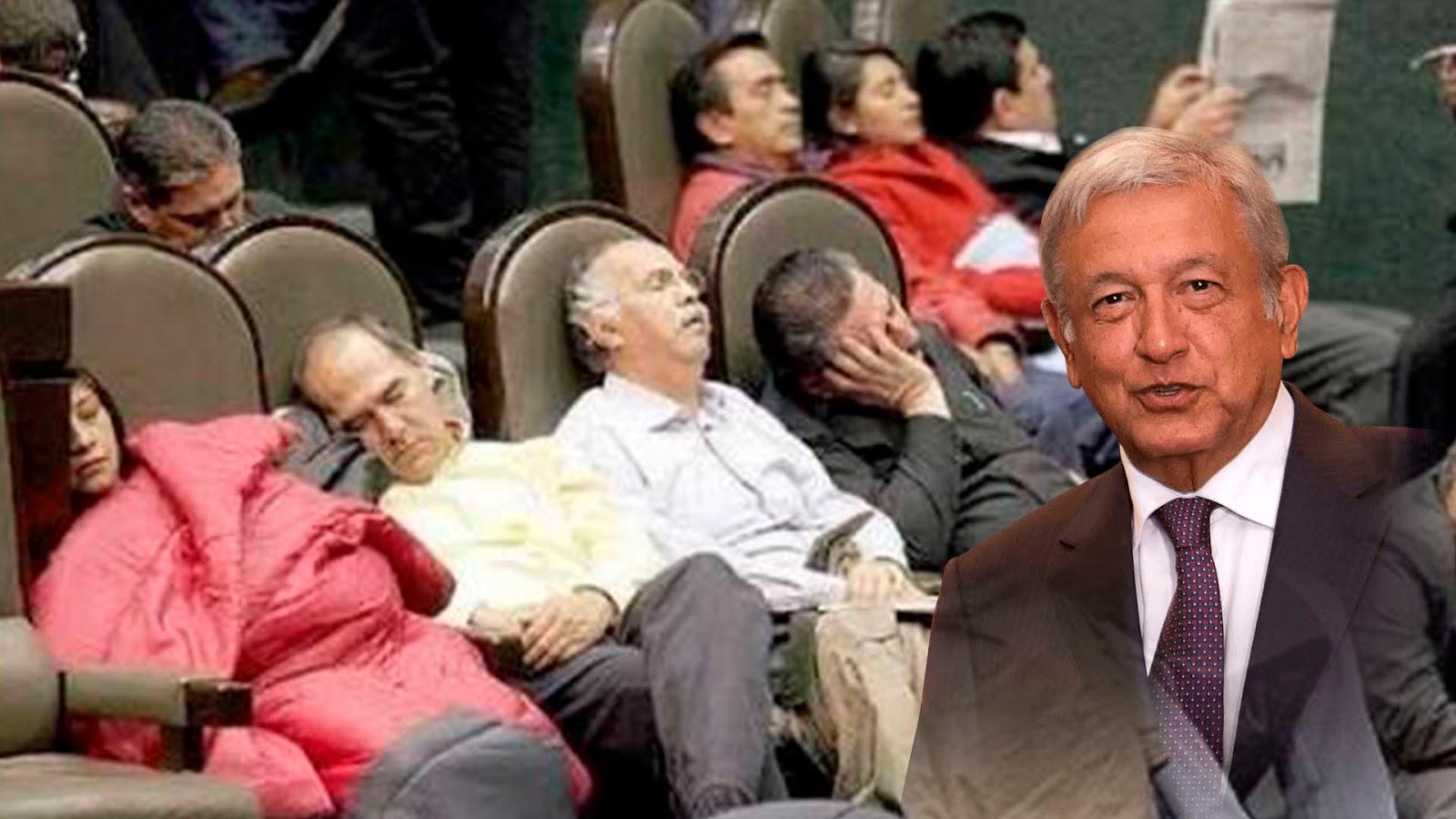 López Obrador propone solo 100 diputados y 30 senadores en México, todos los demás solamente sirven para ROBAR a México.
