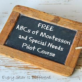 FREE ABCs of Montessori and Special Needs Pilot Course