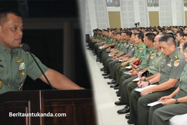 Panglima TNI Jenderal Gatot Nurmantyo Rapat bersama dengan para TNI dan Polri