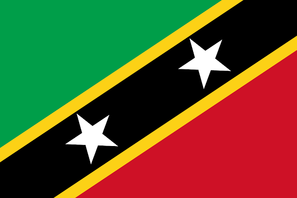 Logo Gambar Bendera Negara Saint Kitts dan Nevis PNG JPG ukuran 600 px