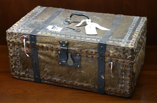 The money chest used by John Croft to distribute relief funds