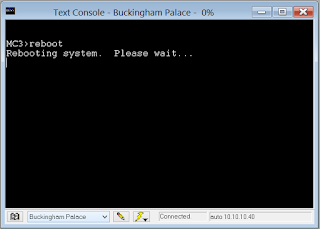 image of crestron tool box text console tool with reboot processing