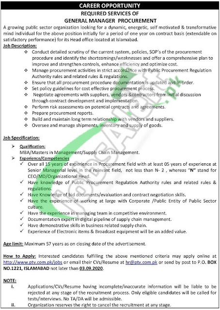 ptv-jobs-2020-online-apply-pakistan-television-corporation-limited