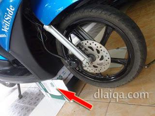 ganjal bagian bawah sepeda motor