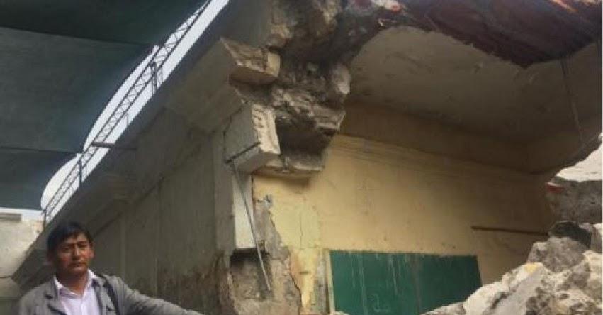 Techo y paredes de aula se desploma en colegio del centro histórico de Arequipa