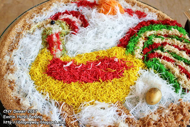 Huat Ahh! Giant Yee Sang Table