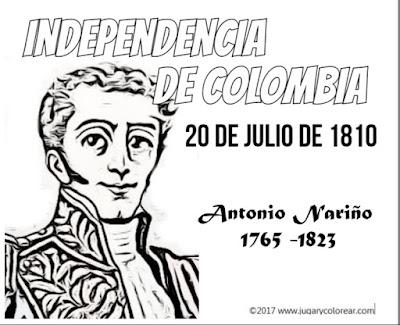 Antonio Nariño colorear