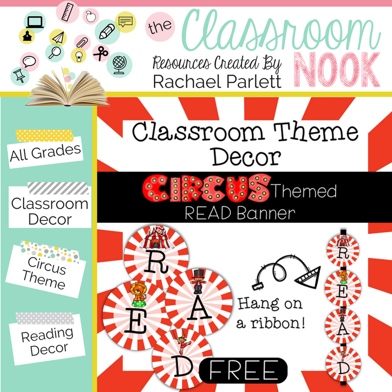 printable circus decor collection for a circus themed classroom