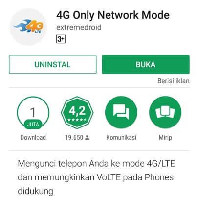 Cara Mengunci Jaringan 4G dengan Aplikasi 4G