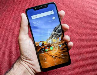 Cara Screenshot Xiaomi Pocophone F1 Dengan Tiga Jari