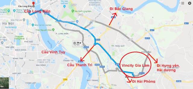 Vị trí giao thông thuận lợi của dự án Vincity Gia Lâm