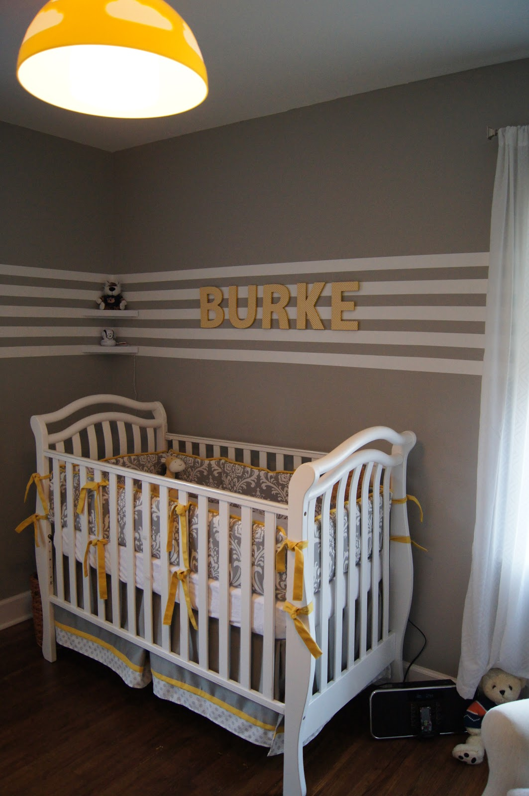 Baby Boy Room Grey: The Humble Abode: Baby B's Yellow And Grey Nursery Reveal
