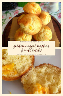 Golden Nugget Muffins:  Tender hot muffins bursting with the sweet bits of juicy tangerines - Slice of Southern