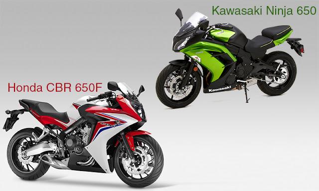 honda cbr 650f vs kawasaki ninja 650