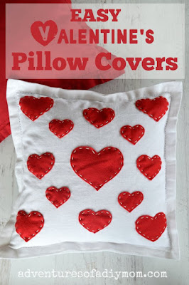 Easy Valentine's Throw Pillow Covers
