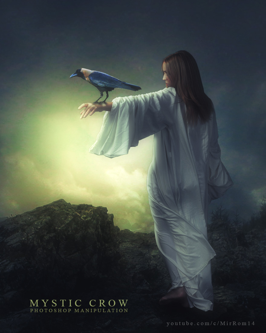 Photoshop Tutorial - Fantasy Mystic Crow Photo Manipulation