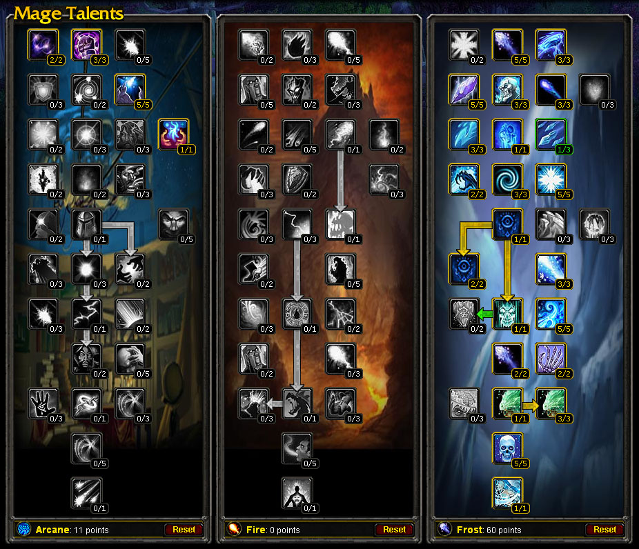chatting about wow     talent tree