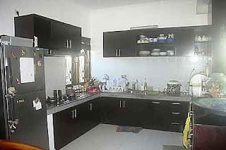 Dapur di rumah dijual