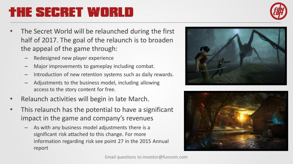 The Secret World MMO será relanzado