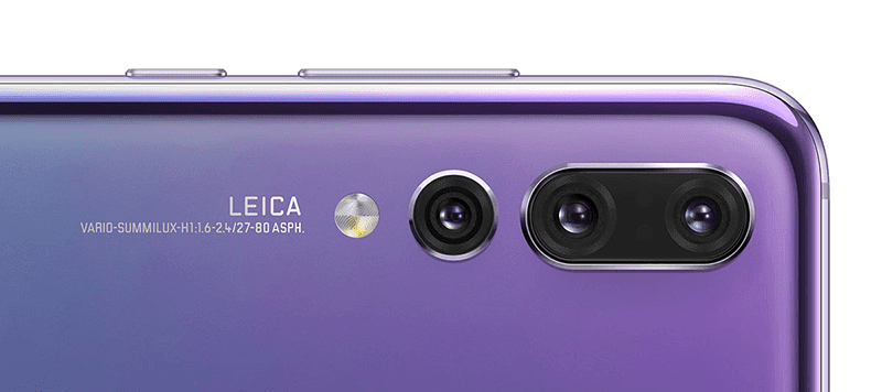 Huawei P20 Pro's camera placement