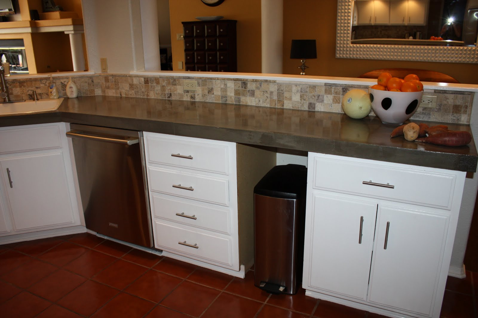 Remodelaholic Quick Install Of Concrete Countertops