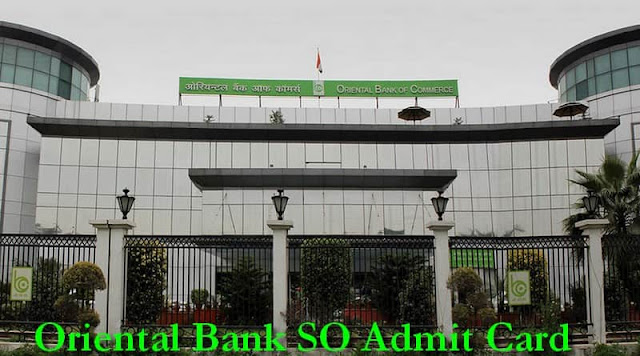 Oriental Bank SO Admit Card