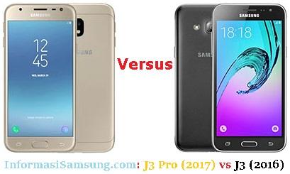 Harga dan Spesifikasi Samsung Galaxy J3 (2016) vs J3 Pro (2017)