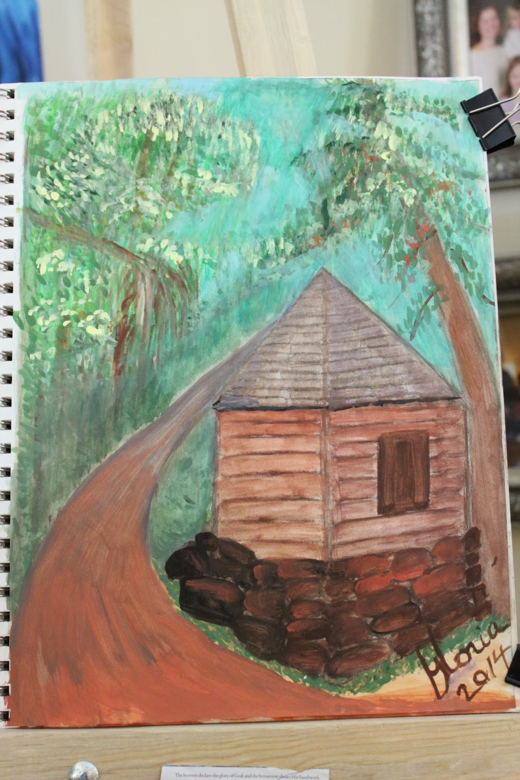 The Red Rock House sketch by Gloria Poole of Missouri; 2014