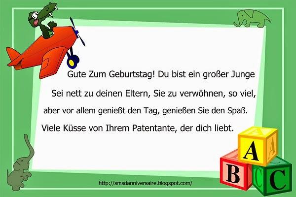 Message d'anniversaire en allemand