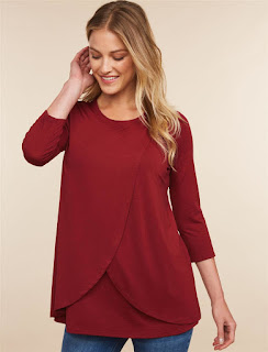 Pull over Tulip Hem Nursing Shirt
