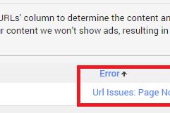 Cara Menghapus Dan Mengatasi Status Crawler Error (Url Issues: Page Not Found) di Google Adsense
