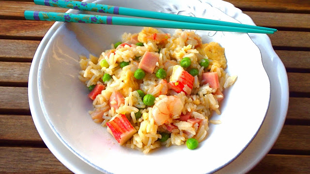 receta-de-arroz-tres-delicias-con-gambas